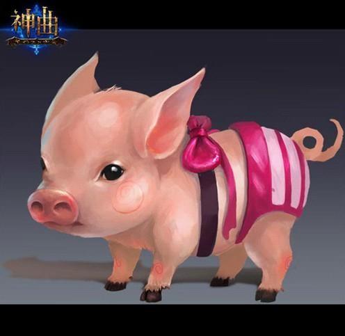 可爱真猪猪头像