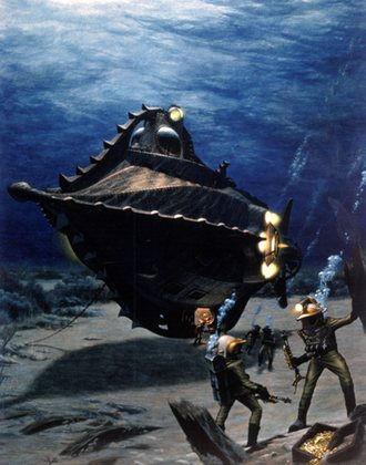 """海底两万里》(此后被多次翻拍成剧场版电影和电视电影)中的""""鹦鹉螺号"""""""
