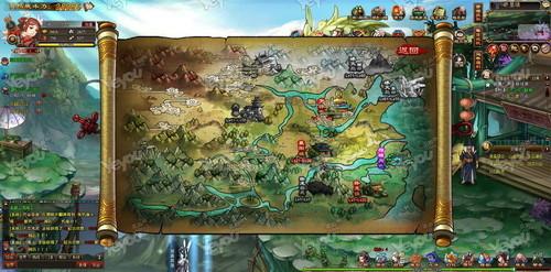 地图以等级划分区域,为了方便玩家快速到达目标位置,更结合武侠特色