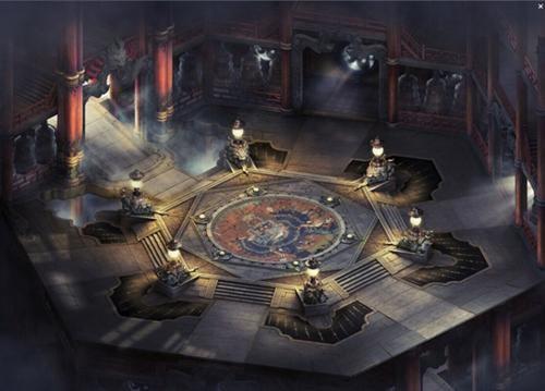 游戏室内场景手绘