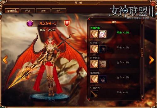 《女神聯盟2》龍之女神3D建模