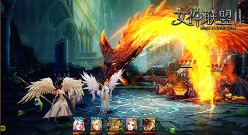 《女神聯盟2》龍之女神戰鬥截圖