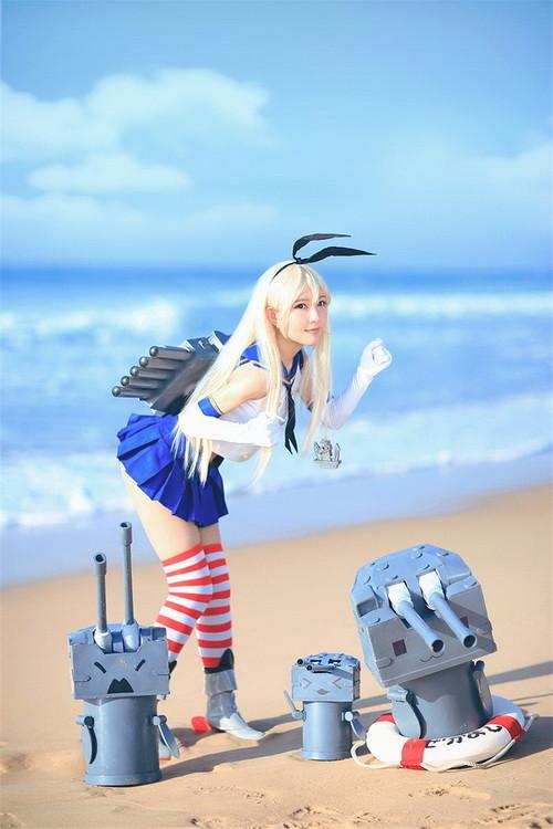 注意力都在腿上了《舰娘》岛风白嫩cos画面太美
